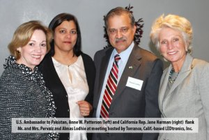 Anne W. Patterson, and Rep. Jane Harman from, Pervaiz Lodhie